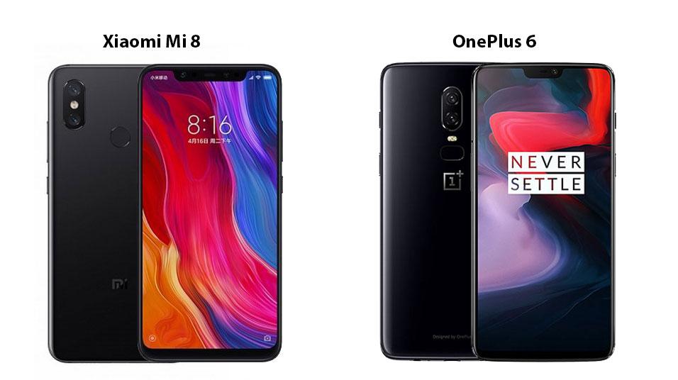 Xiaomi Mi 8 vs OnePlus 6