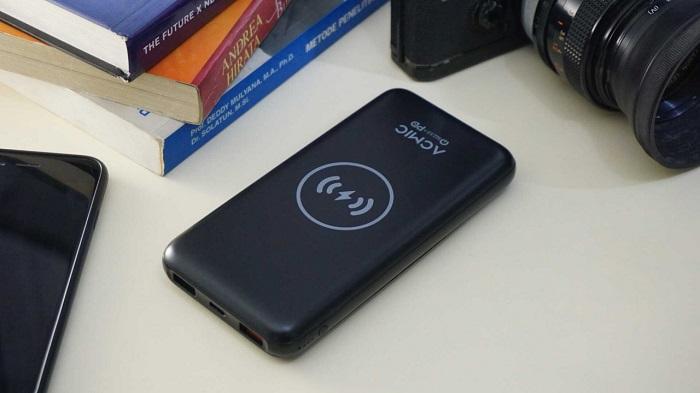 ACMIC W10PRO, Power Bank Premium dengan Wireless Charging dengan Triple Fast Charging System