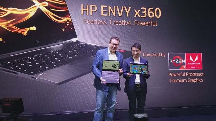 Laptop Convertible Terbaru HP ENVY x360 13 Meluncur dengan Prosesor AMD Ryzen Mobile
