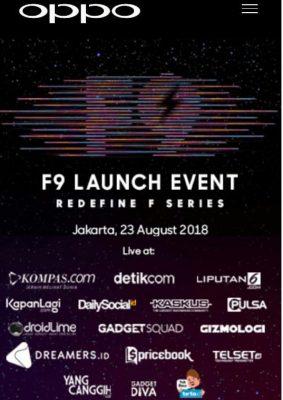 launching OPPO F9