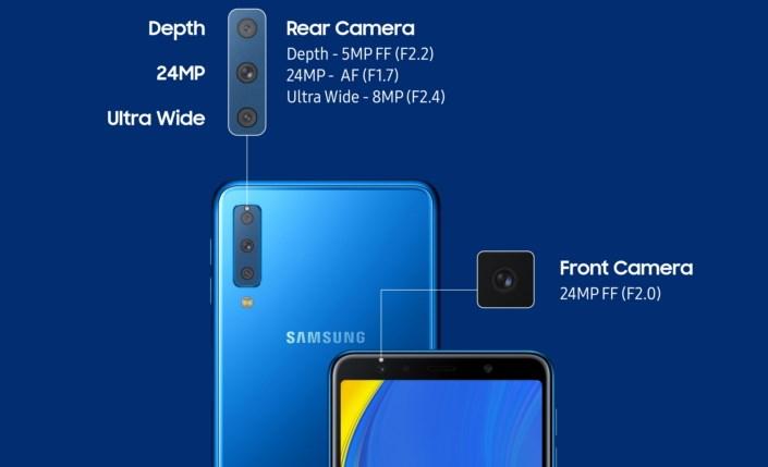 Kelebihan Tiga Kamera Belakang Samsung Galaxy A7 (2018)