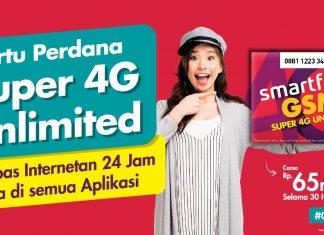 Paket Internet Super 4G Unlimited smartfren