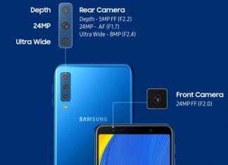 Saingi Huawei P20 Pro, Samsung Galaxy A7 (2018) Hadir dengan Tiga Kamera