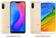 Xiaomi Redmi Note 6 Pro dan Redmi Note 5