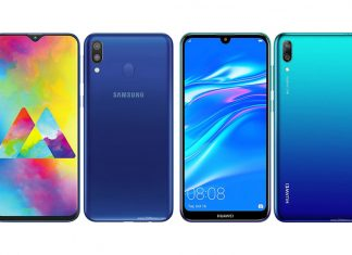 Compare Hp Samsung Galaxy M20 vs Huawei Y7 Pro 2019