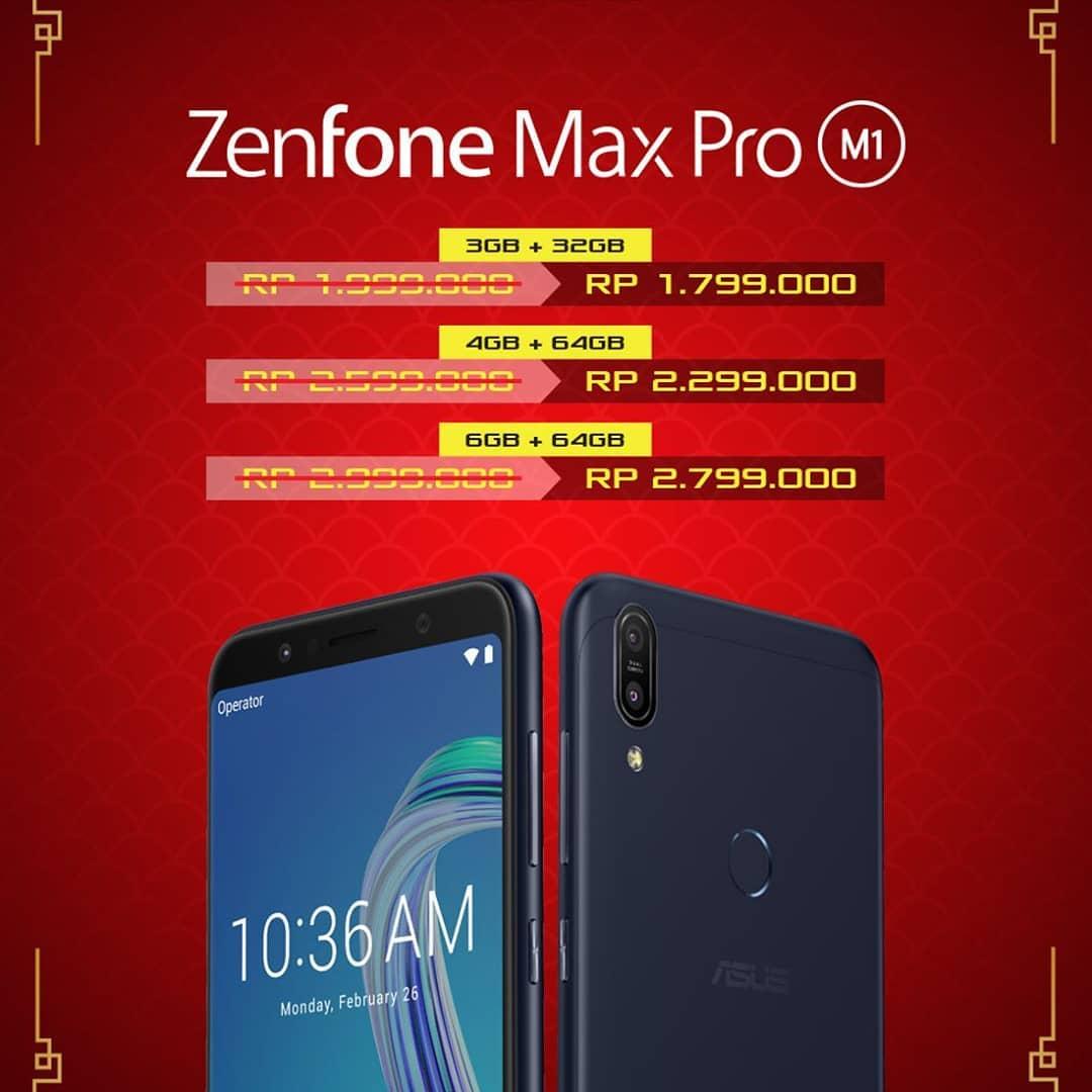 Promo Tahun Baru Imlek 2019, Hp Asus ZenFone Max Pro M1 Turun Harga!