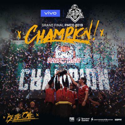 Champion PUBG Mobile Club Open