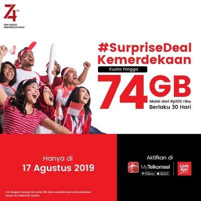 Paket Internet Telkomsel HUT RI ke 74