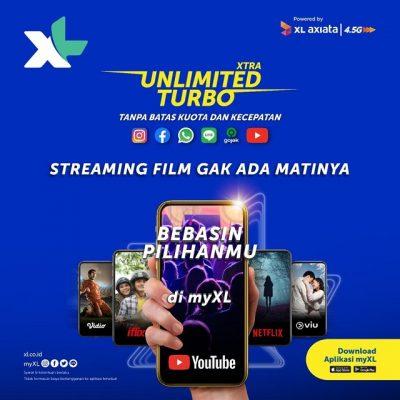 Pengguna XL Bisa Streaming Film Tanpa Batas Kuota
