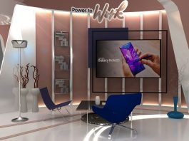 smartphone Samsung Galaxy Virtual Exhibition