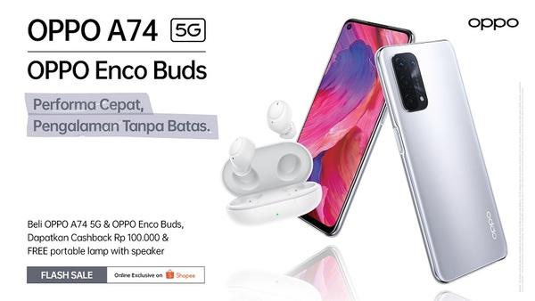OPPO A74 5G Flash Sale Bundling W12