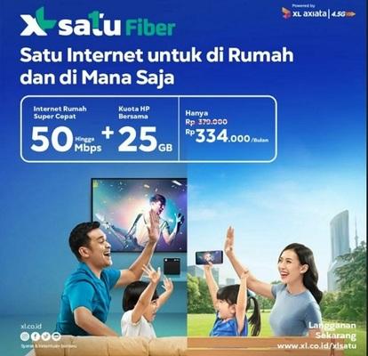 XL SATU Fiber Layanan Internet Terbaru Untuk di Rumah